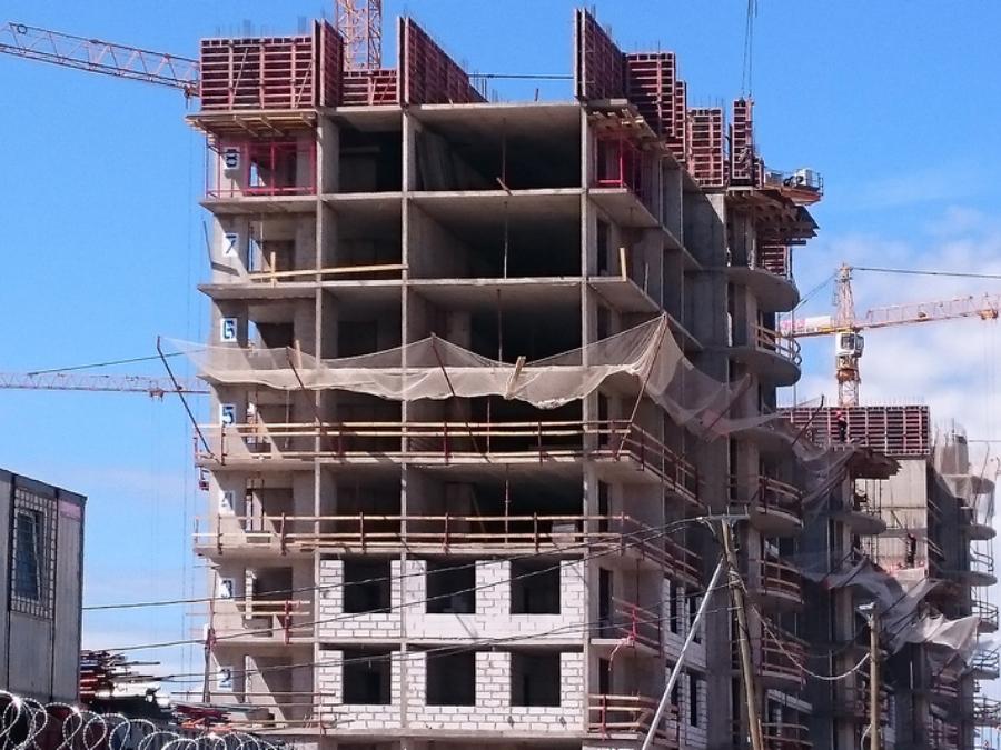 Ход строительства жилого комплекса, II очередь, 06.06.2018