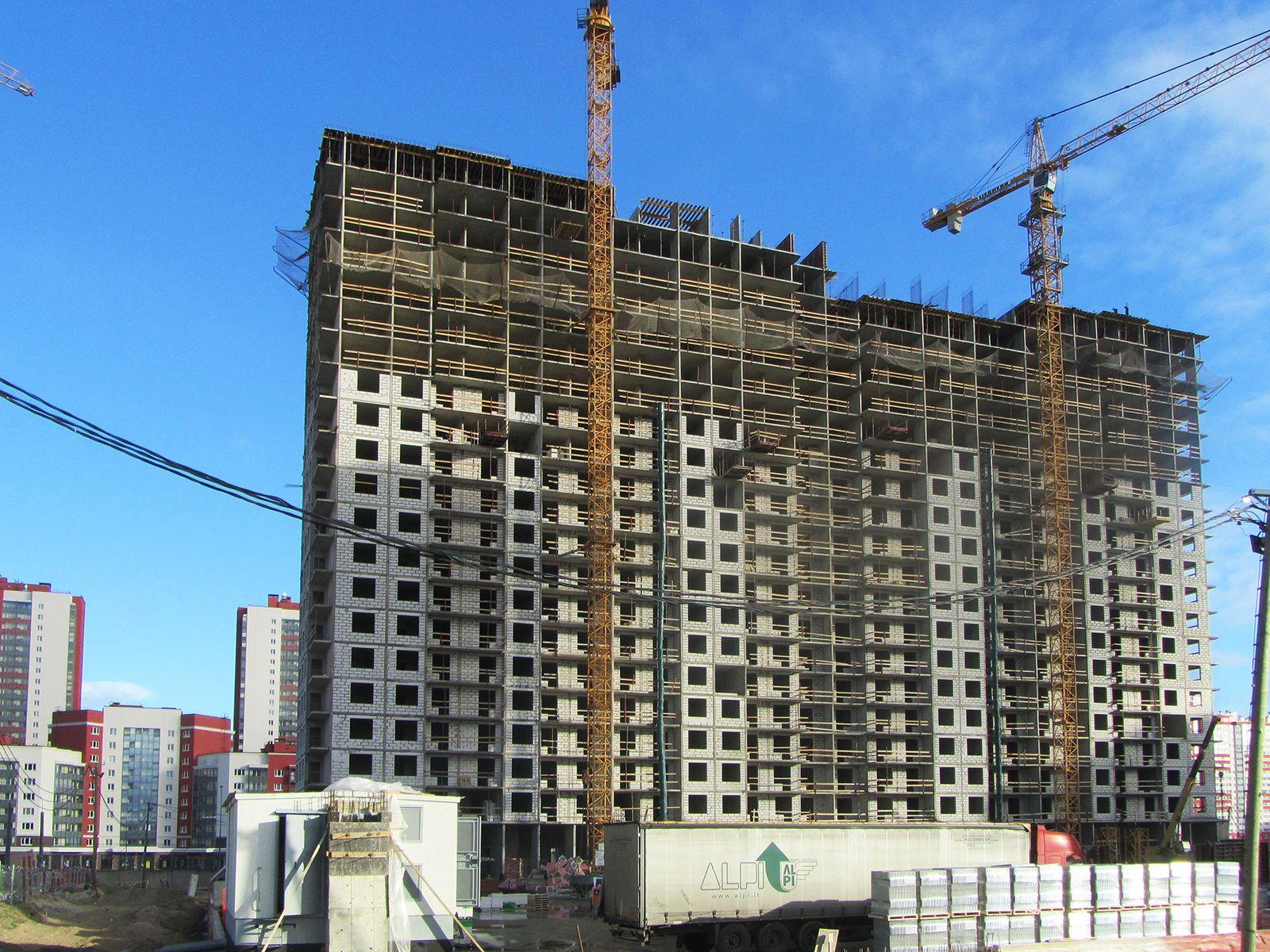 Ход строительства жилого комплекса, II очередь, 26.10.2018