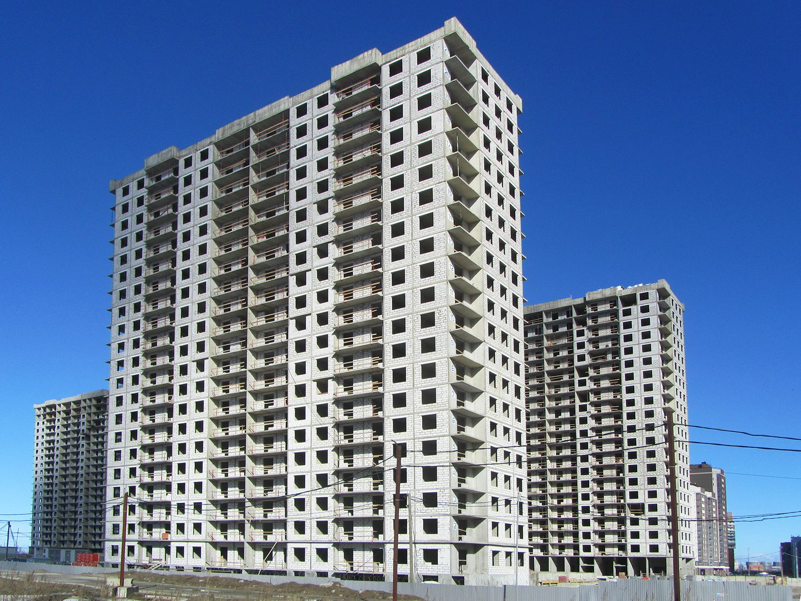 Ход строительства жилого комплекса, II очередь, 25.03.2019