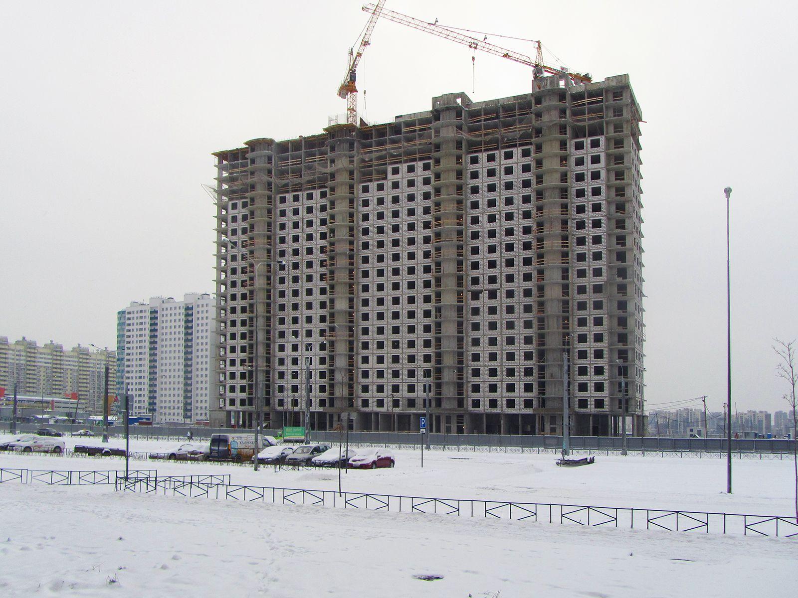 Ход строительства жилого комплекса, II очередь, 25.12.2018