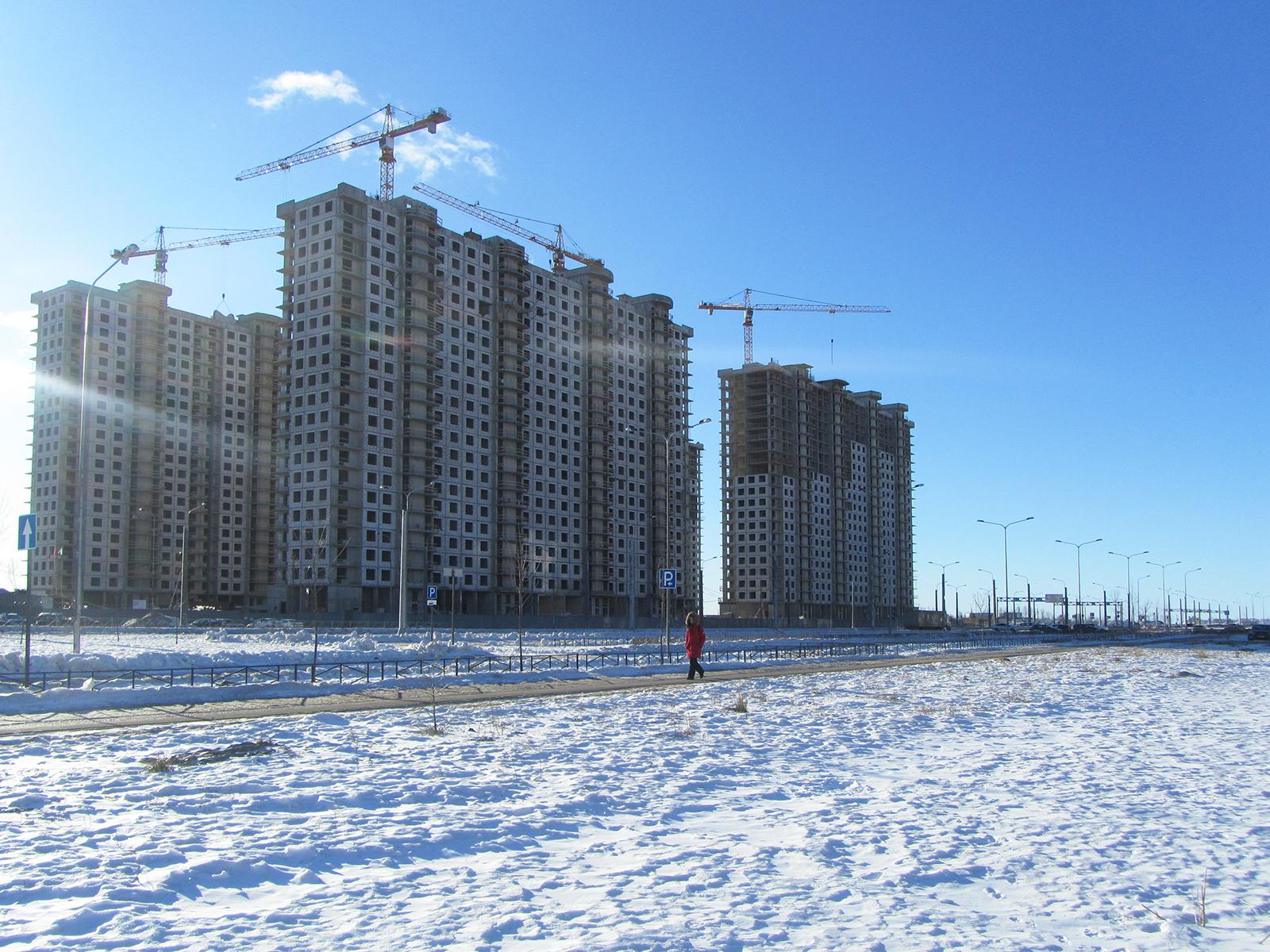 Ход строительства жилого комплекса, II очередь, 25.02.2019