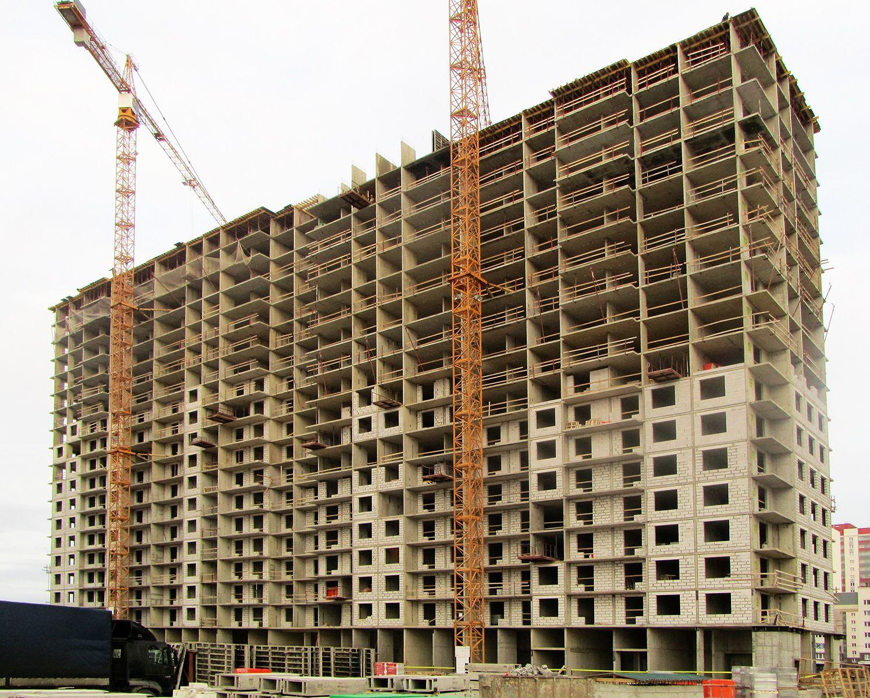 Ход строительства жилого комплекса, II очередь, 28.11.2018