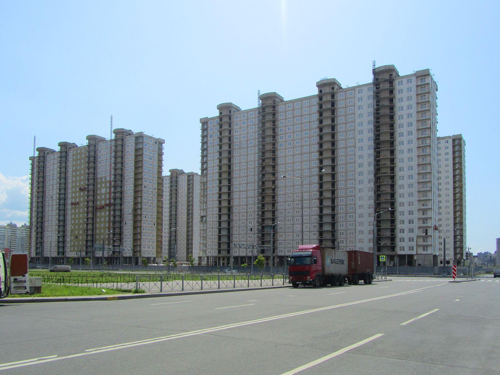 Ход строительства жилого комплекса, II очередь, 26.07.2019