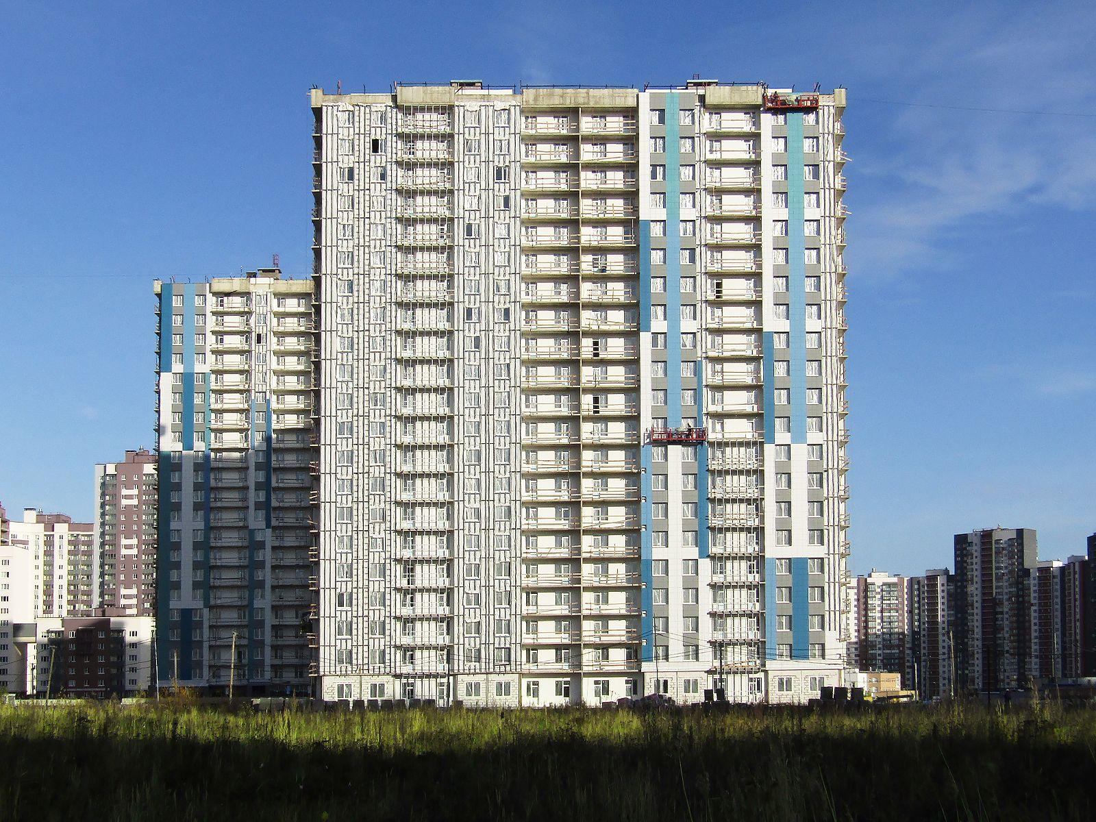 Ход строительства жилого комплекса, II очередь, 25.10.2019