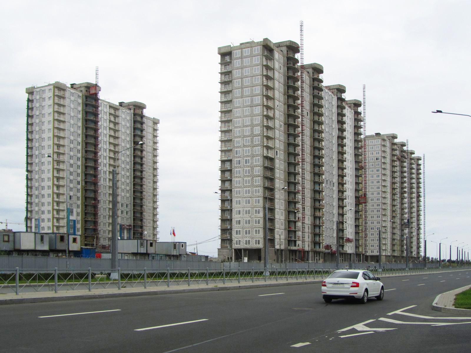 Ход строительства жилого комплекса, II очередь, 25.08.2019