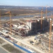 Ход строительства жилого комплекса, 22.04.2014