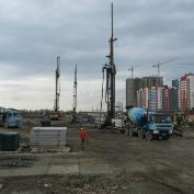 Ход строительства жилого комплекса, II очередь, 13.09.2017