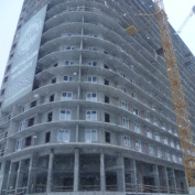Ход строительства жилого комплекса, 08.02.2015