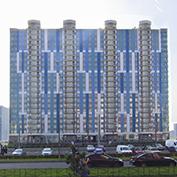 Ход строительства жилого комплекса, II очередь, 05.10.2020
